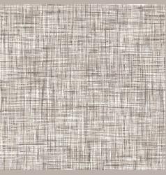 Natural linen seamless pattern texture beige brown vector