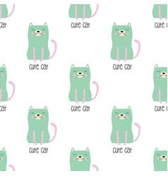 pattern cute cat in scandinavian style vector image