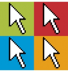pop mouse pointer vector image vector image
