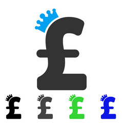 pound crown flat icon vector image