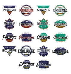 quality badge vector image
