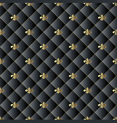 quilted black 3d seamless pattern abstarct vector image