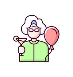 Retirement party rgb color icon vector