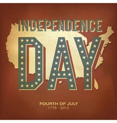 retro poster independence day vector image