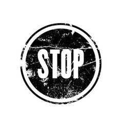Rubber stamp with the word stop vector