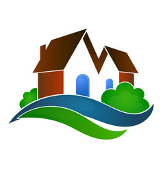 Sale houses symbol vector