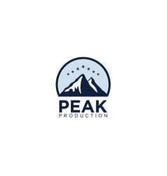simple and modern mountain logo design vector image