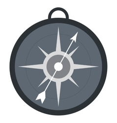 simple compass icon magnifying icon design vector image
