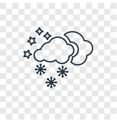 Snow concept linear icon isolated on transparent vector