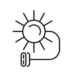 Solar electric icon outline style vector