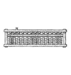 Soroban japan abacus vector