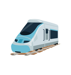 Speed modern railway train locomotive passenger vector