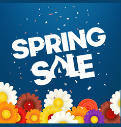 Spring sale banner photoreal vector