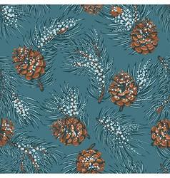 Spruce seamless pattern vector