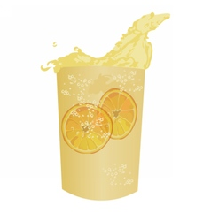 Summer cocktail fresh drink isolated vector