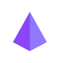tetrahedron of purple color 3d vector image