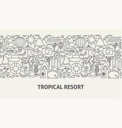 tropical resort banner concept vector image