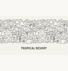 tropical resort banner concept vector image
