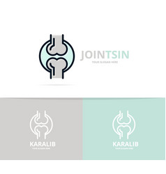 Unique joint and knee logo design template unique vector