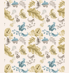 Vintage damask pattern old 30s style vector