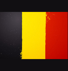 vintage grunge texture flag of belgium vector image