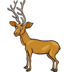wapiti deer cartoon vector image