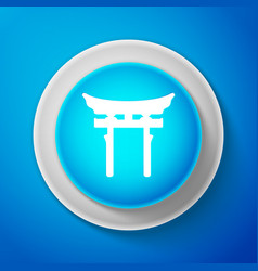 White japan gate icon torii gate sign vector