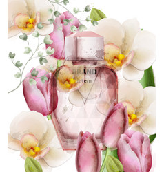 women perfume bottle floral product vector image