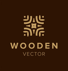 Wooden logo design creative symbol element for vector