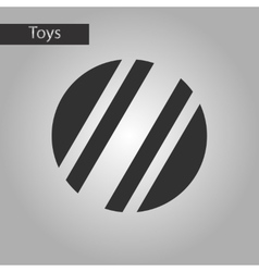 black and white style toy ball vector image vector image