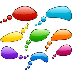 color speech bubbles vector image vector image