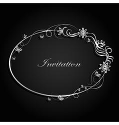 Decorative silver frame vector image