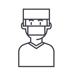 doctorsurgery line icon sign vector image