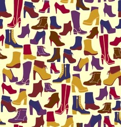 Fashion shoes silhouettes background vector