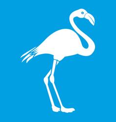 flamingo icon white vector image vector image