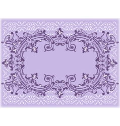 lilac frame vector image