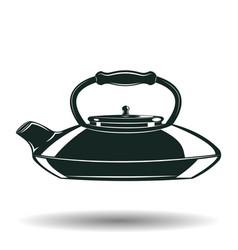 monochrome kettle sign vector image