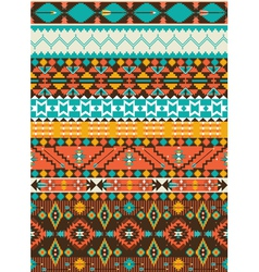Seamless navajo geometric pattern vector image vector image