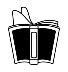 open book school utensil outline vector image