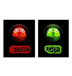 Red and green traffic light vector image vector image