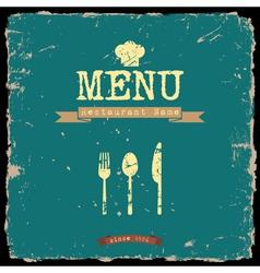 restaurant menu Retro style design vector image vector image