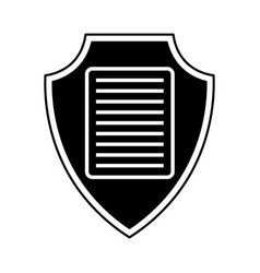 shield insurance with document isolated icon vector image