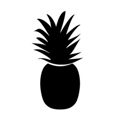 the pineapple black color icon vector image vector image