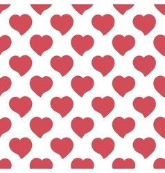 Big red hearts hand drawn artistic isolated vector image