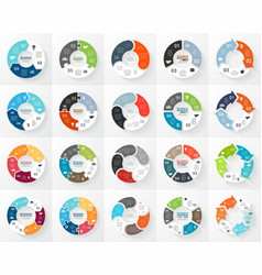 Circle arrows infographics set 3 4 5 6 vector