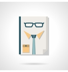 Hr manager abstract flat color icon vector