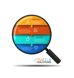 modern infographic design template jigsaw puzzle vector image