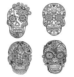 Skulls coloring vector