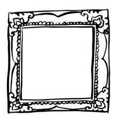 vintage frame doodle hand drawn vector image