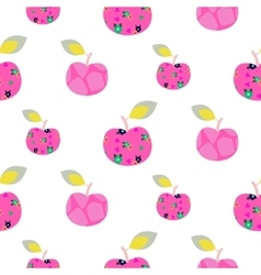 Apple pink pattern Seamless ornament vector image vector image